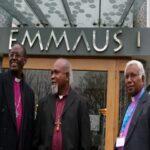 (L to R) Anglican Archbishops Bernard Ntahoturi (Burundi), Joseph Kifau Kopapa (Papua New Guinea) and David Vunagi (Melanesia) at this year's Primates' Meeting in Dublin. Photo: ACNS