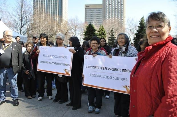 Hundreds of former Indian residential school studentsjoin a