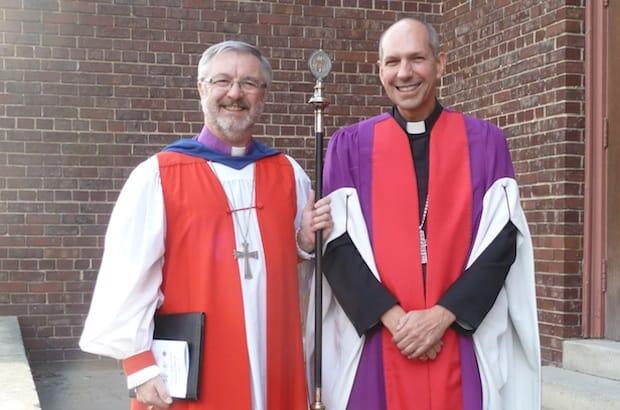 (L to R): Anglican diocese of Saskatoon Bishop David Irving and Roman Catholic Bishop of Saskatoon Donald Bolen. Photo: Contributed