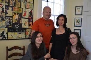 The Gusdal-Kiyooka family (l to r): Siri, Jeff, Hanae and Emi. Photo: Contributed