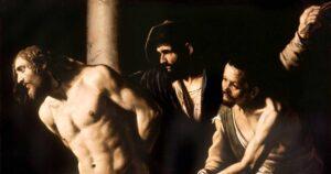Christ at the Column, Caravaggio. Art: Musée des Beaux-Arts de Rouen/Wikipedia